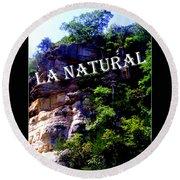 La Natural 2 Round Beach Towel
