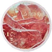 La Petite Rose Round Beach Towel