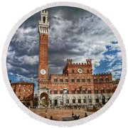 La Piazza Round Beach Towel