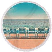 La Promenade Round Beach Towel by Delphimages Photo Creations