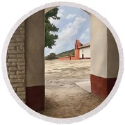La Purisima Arch Round Beach Towel