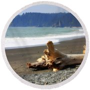 La Push Beach  Round Beach Towel