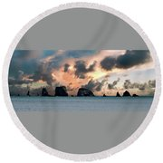 La Push Lineup Round Beach Towel