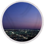 L.a. Sunset Round Beach Towel