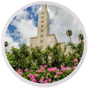 La Temple Pink Round Beach Towel