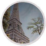 La Tour Eiffel 2 Round Beach Towel