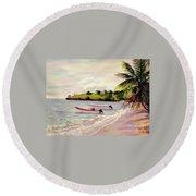 Laborie Beach  Round Beach Towel