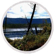 Labrador Pond Round Beach Towel