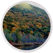 Labrador Pond Hillside Round Beach Towel