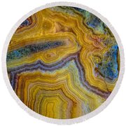Lace Agate Stone 4 Round Beach Towel