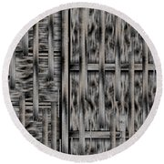 Lace Landscape Abstract Shimmering Lovely In The Dark Round Beach Towel