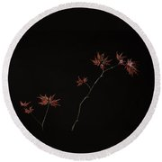 Lace Leaf Maple Round Beach Towel