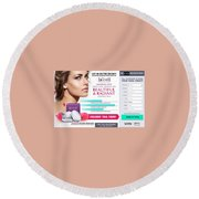 Lacell Round Beach Towel