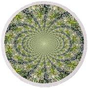 Lacey Kaleidoscope Round Beach Towel