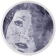 Lack Of Interest - Silver Round Beach Towel