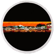 Laconner Last Water Front Panel Painting Round Beach Towel