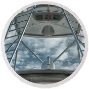 Ladders On A Fishing Boat Round Beach Towel