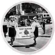 Ladies Auxiliary Of East Durham Round Beach Towel