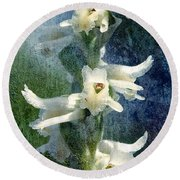 Ladies-tresses Orchid Round Beach Towel