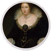 Lady Alethea Talbot, Countess Of Arundel Round Beach Towel