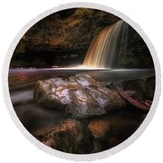 Lady Falls Waterfall Country Round Beach Towel