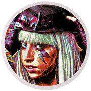 Lady Gaga Round Beach Towel