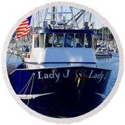 Lady J Round Beach Towel