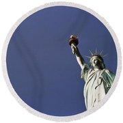 Lady Liberty 5 Round Beach Towel
