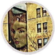 Lady Of The House Round Beach Towel