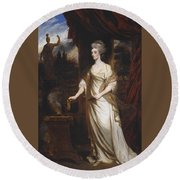 Lady Talbot Round Beach Towel