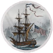 Lady Washington Round Beach Towel