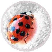 Ladybug Spectacular Round Beach Towel