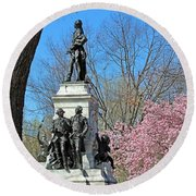 Lafayette Square Named For General Marquis Gilbert De Lafayette Round Beach Towel