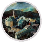 Laforet Village  Round Beach Towel
