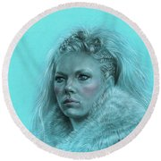 Lagertha Shieldmaiden Round Beach Towel