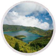 Lagoa Do Fogo Round Beach Towel