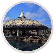 Lagoon Bar And Grill Round Beach Towel