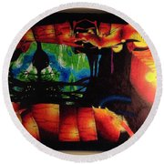 Lagoon Of The Lost Boys Round Beach Towel