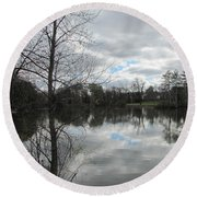 Lagoon Reflections 2 Round Beach Towel