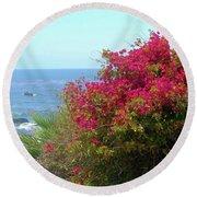Laguna Beach, Southern California 3 Round Beach Towel