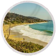 Laguna View Round Beach Towel