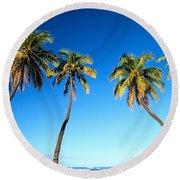Lahaina Palms Round Beach Towel