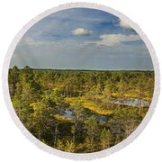 Lahemaa Panorama From Above Round Beach Towel