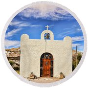 Lajitas Chapel 1 Round Beach Towel
