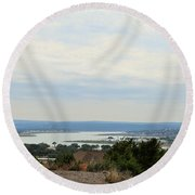Lake 006 Round Beach Towel