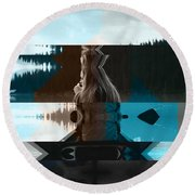 Lake And Beauty Ftg0002 Round Beach Towel