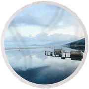 Lake Atitlan, Guatemala Round Beach Towel