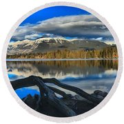 Lake Beauvert Roots Round Beach Towel