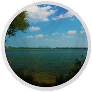 Lake Calhoun 3796 Round Beach Towel