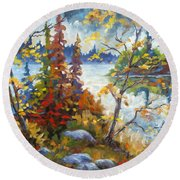 Lake Cartier Round Beach Towel